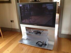 "Panasonic 43"" flat screen TV and purpose built stand"