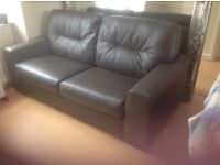 2x 2/3 seater leather sofas