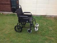 Heavy duty attendant wheelchair