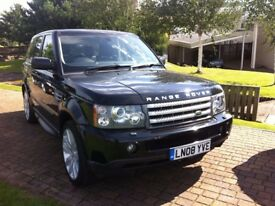 RANGE ROVER SPORT HSE 3.6 TDV8 AUTO STUNNING CAR IN METALLIC BLACK 2008reg SUNROOF LADY OWNER