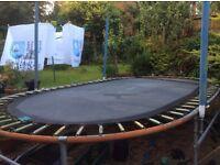 Large Oval trampoline for sale