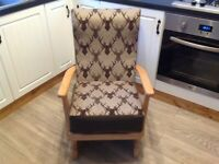 Brand new, vintage 1930s rocking chair, nursing chair newly upholstered to sell
