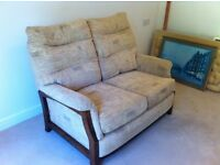 Two seater sofa in excellent condition - hardly used