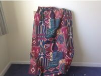 "FREE! 3 pairs of curtains, fully lined, size 54"" X 54""."