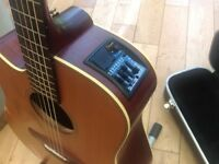 Left handed Takamine guitar.