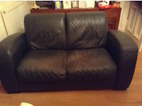 Two piece leather sofa for sale