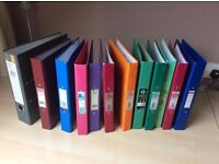 Collection of 15 used Lever Arch Files and Ring Binder Files, A4 size
