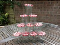 Bonne Maman empty jam jars x10 - 300ml /11oz