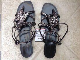 Zara ladies sandals BNWT