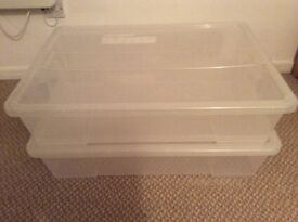 Two Large Storage Boxes