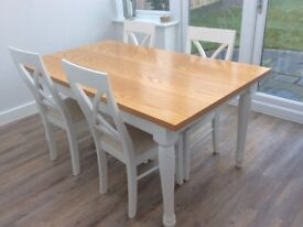 Wooden table and 4 chairs from Next