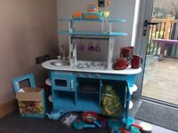 ELC children's play kitchen with food and cooking tools