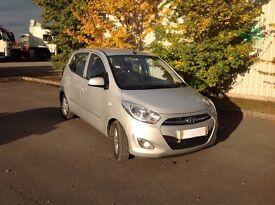 Hyundai i10 metallic silver 1 owner 12 months MOT. Reduced must go this week.