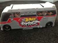 WWE mini ramblers bus and figures
