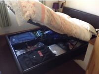 Double storage bed, good condition, very useful as guest or regular bed! Used as guest bed here.