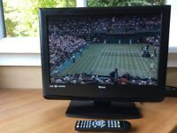 """Tevion 12v 19"""" HD lcd tv with remote ideal for caravan motorhome comes with 12v"""