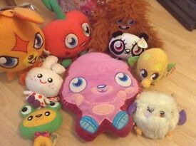 Moshi monsters soft toys and free bag