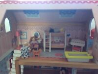 Dolls house KidKraft, as new condition, with furniture and people