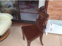 Antique Victorian Hall Chair