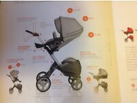 Stokke Style set for Xplory.....includes shopping bag and free Stokke blanket