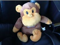 Cheeky Monkey Soft Toy which can be warmed in the microwave