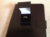 Small gold and diamond wishbone ring
