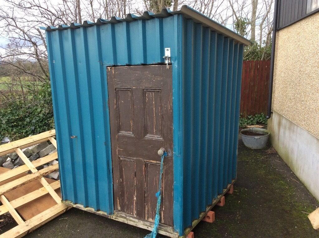 tin garden shedbuilders hut for sale