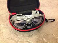 HUUB open water aphotic goggles, silver/black
