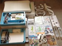 Nintendo Wii Console Bundle (Wii Fit , accessories and games)