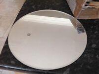 Mirror plates, 30 cm round