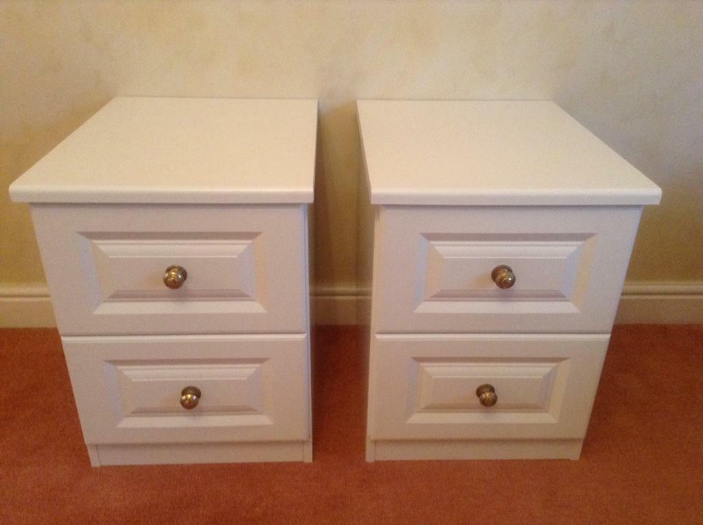Pair of Sharps Bedside Cabinets