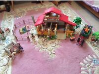 Playmobil Stable, Horses, Jumps etc