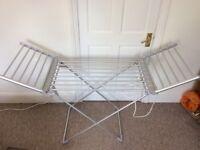 18-bar aluminium lightweight folding electric heated clothes dryer