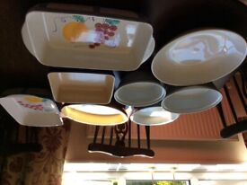 Various serving and baking dishes