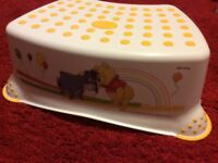 Non-Slip step stool with Winnie The Pooh design