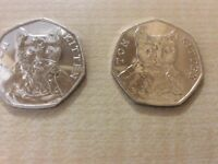 "Tom Kitten 50p Beatrix Potter series 2 coin -uncirculated ""almost BU"""