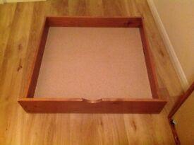 2 X Pine Underbed Drawers