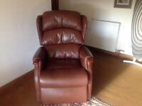 HSL Manual Recliner Chair Brown in Colour