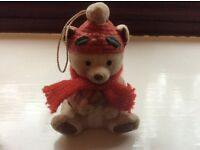 Christmas Teddy Bear Decoration - cute and even chimes too (see both photos).