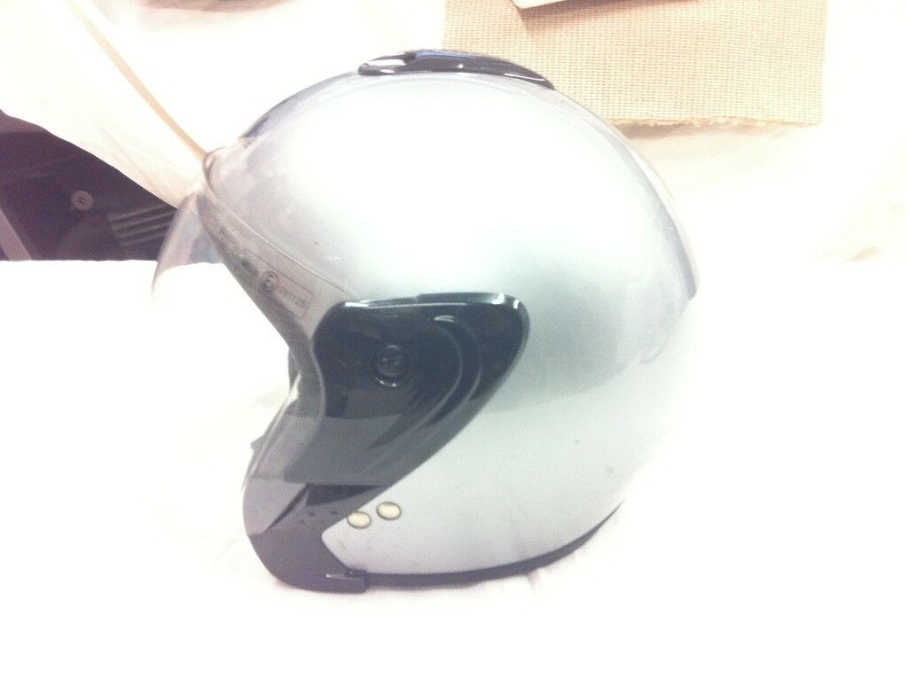 Almost New Motorcycle Helmet, Classic Open Face Type but With Full Visor