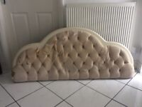 Myers cream king size headboard. Possible project, needs re-covering