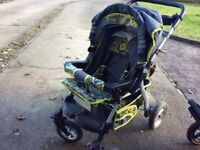 FOCUS all in one pram from birth, nappy bag, tray and car seat used for 50 pound
