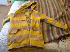 Seasalt tin cloth raincoat size 12