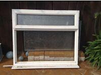 2 White PVC windows, one external door and 1 internal door all yours £60