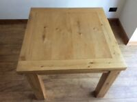 Next Extendable Dining Table , Good Condition (Solid Wood , Square)