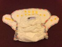 BabyBeehinds Reusable Nappies. bulk set of 21. From birth to toddler. Unused. + waterproof wraps.