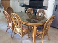 Conservatory table & chairs.