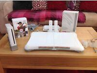 Nintendo Wii console plus Fit board