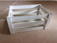 Rustic White Wooden Crates - Small & Large size available