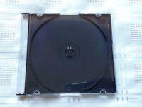 Box of New 200 Slimline Single CD/DVD Jewel Cases. Black. Original packaging